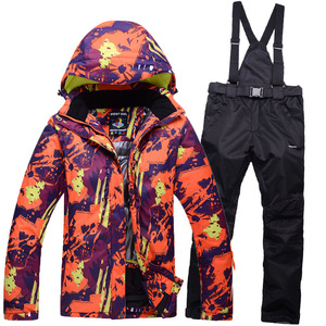 35b40cf7bd Man or Woman warm Snow Clothes skiing suit Sets outdoor sports snowboarding  sets waterproof   windproof
