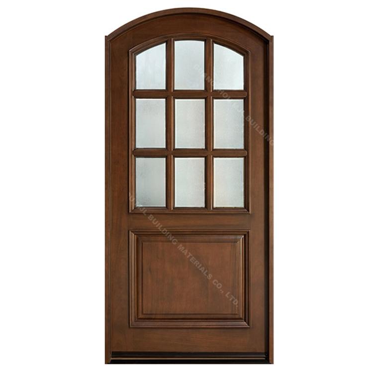 Modern House Half Round Wooden Entry Door Kerala Solid Wood Door Frame  Designs