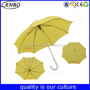 outdoor promotional yellow cheap rain colorful straight umbrellas