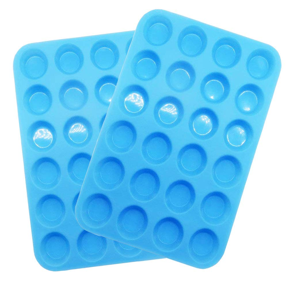 Silicone Mini Muffin Pan Silicone Molds for Muffin Tins, 24 Non Stick Cupcake Silicone Baking Cups,2 Pack