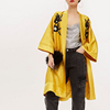 OEM Custom Women Gold Long Embroidered Kimono