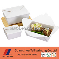Chinese take out box bio pack white red blue black green yellow pink purple