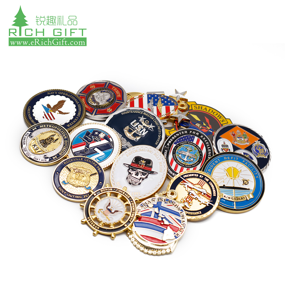 China Manufacturer Maker Custom Metal/Antique/Souvenir/Gold/Military/Silver Challenge Coin with Logo No Minimum