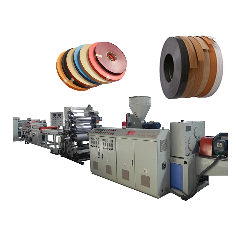 Gedrukt gelijmd plastic PVC rand banding tape rand band extrusie making machine