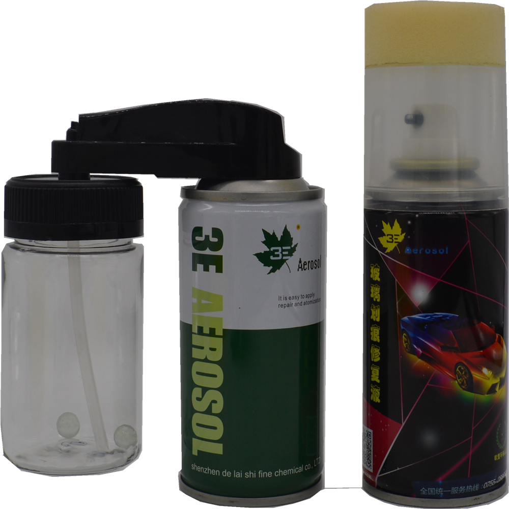 Spray aerosol can with adjustable nozzle and plastic cap