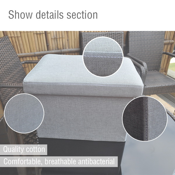 specialized appearanceing available High quality storage box/footrest ottoman