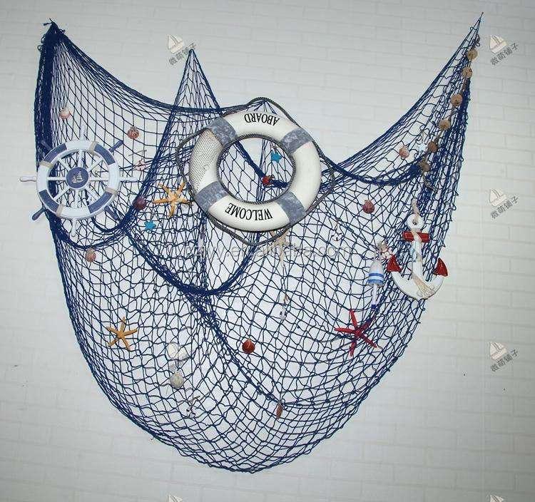 装飾航海釣りネットで貝殻、装飾...