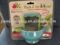 Transparent plastic pvc blister box for baby bowl packaging