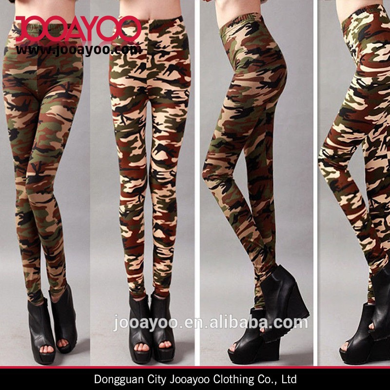 Womens Popular Military Army CAMO Fashion Leggings Tight Stretch Camouflage Pants