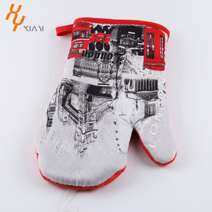 Custom Design Printed pan holders cheap pot holders Gloves factory in china