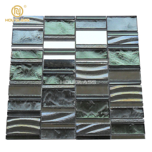 New Design mirror blends Iridescent electroplate glass mosaic tile victory mosaic