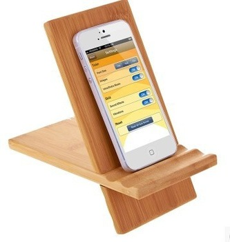 2016 hot selling factory price wooden mobile phone holder handmade universal wooden mobile phone stand