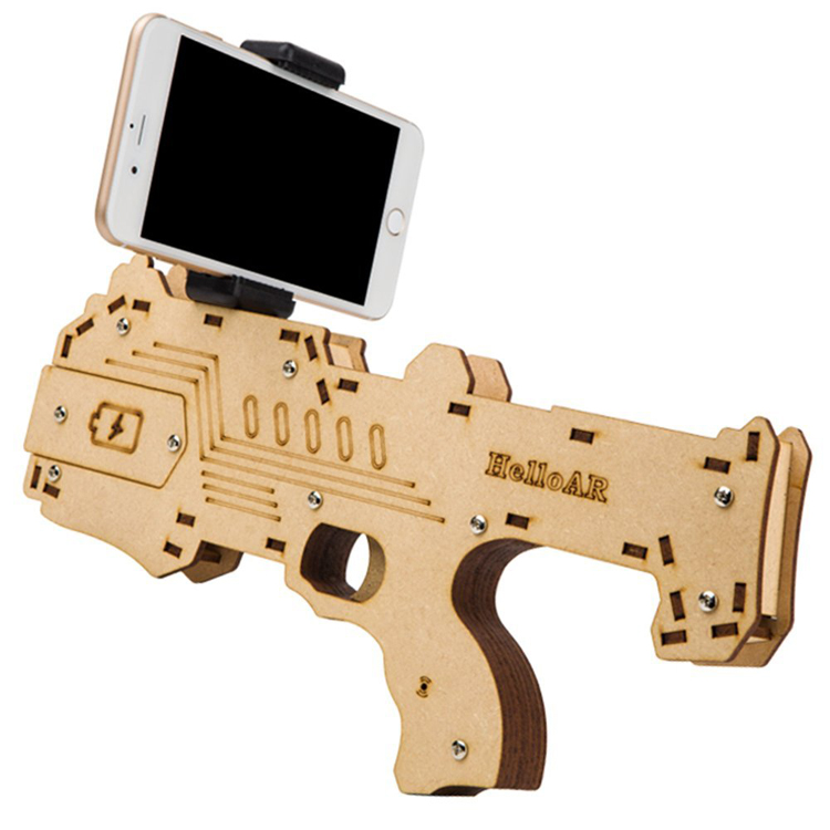 2017 Mobile Phone Shooting 3D Game Toys Player Wood Bluetooth AR <strong>Gun</strong>