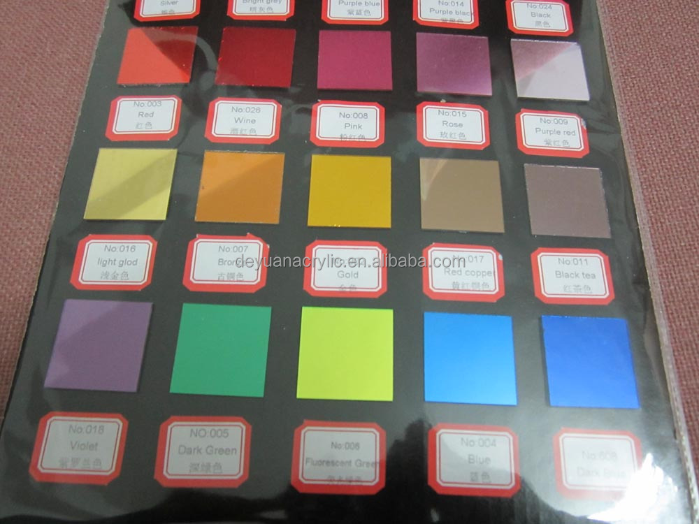 Wholesale China Supplier Colour Acrylic Mirror Strips