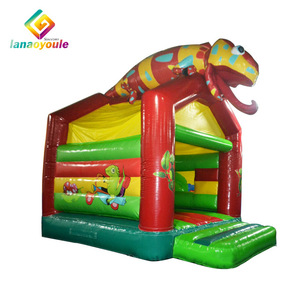 vivid chameleon kids fun city entainment games small size inflatable jumper house bouncers