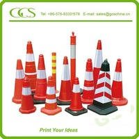 soft flexible road marking cones lesotho cone with reflective tape