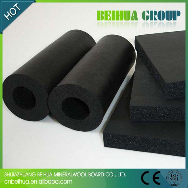 Thermal insulation material rubber plastic foam tubes for for Water pipe material