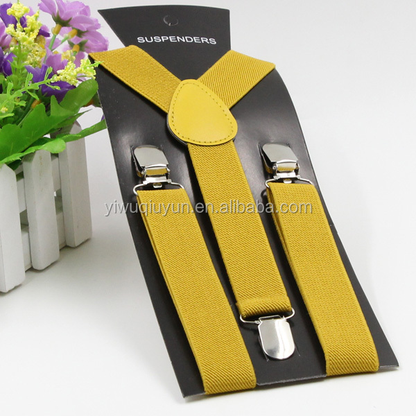 2016 factory wholesale fashion cute kids brace suspenders for garments mustard red green blue white black orange yellow pink