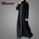 Black Nida Modern Dubai Latest Abaya Styles Cutting Style Loose fitting Gender Cheap Muslim Dress Middle East Evening Dress