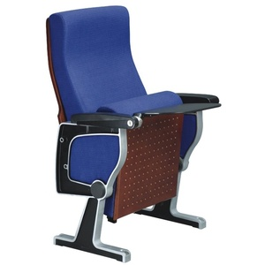 Commercial General Use Affordable Cheap Price Upholstery Fabric Wood Conference School Hall Meeting Room Chair with Tablet 1025