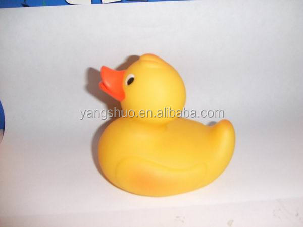 AEY1008 Cute baby Bath Toy Colour Changing Rubber Yellow Duck