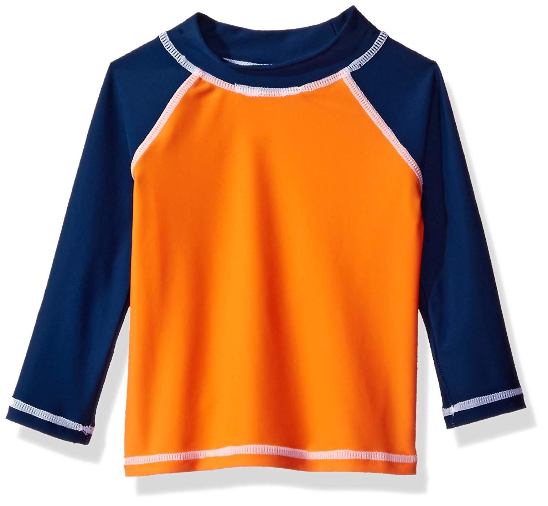 Flap Happy Baby Boys' UPF 50+ Colorblock Rash Guard/Swim Top