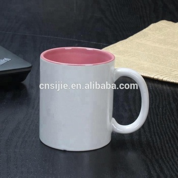 Coated Inner Color Ceramic Mug Sublimation Mug Ceramic Coffee Mugs