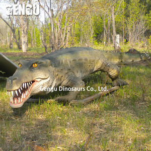 zoo decoration product fiberglass animal sculpture,crocodile