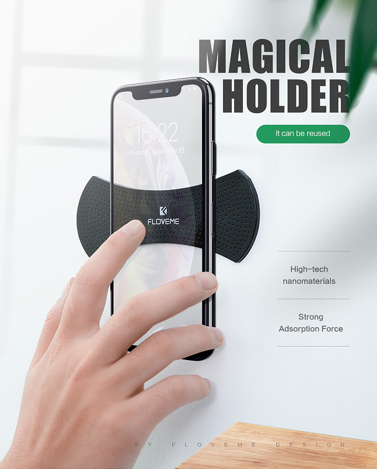Great FLOVEME Free Shipping cell phone holder for desk Fixed gel pad phone holder