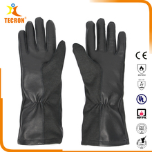 OEM/ODM knitted Nomex Aramid summer military pilot leather flight gloves