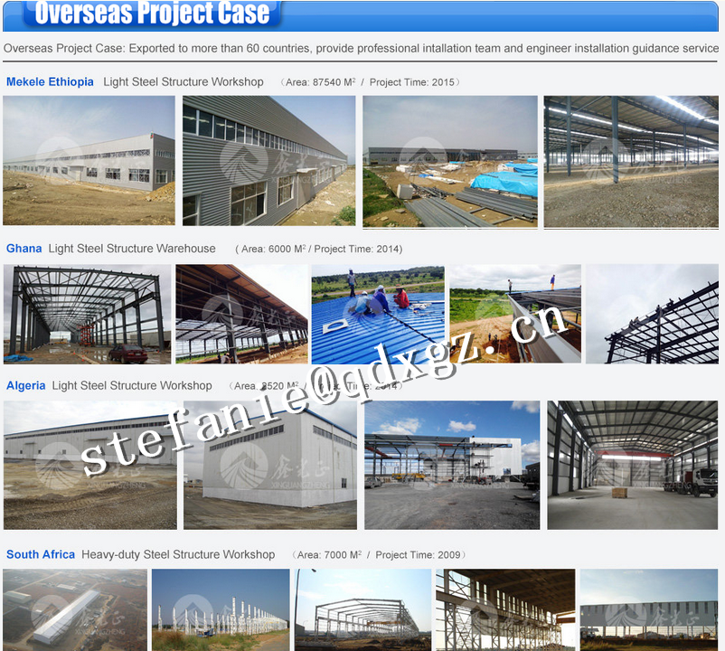 steel structure construction warehouse/workshop building