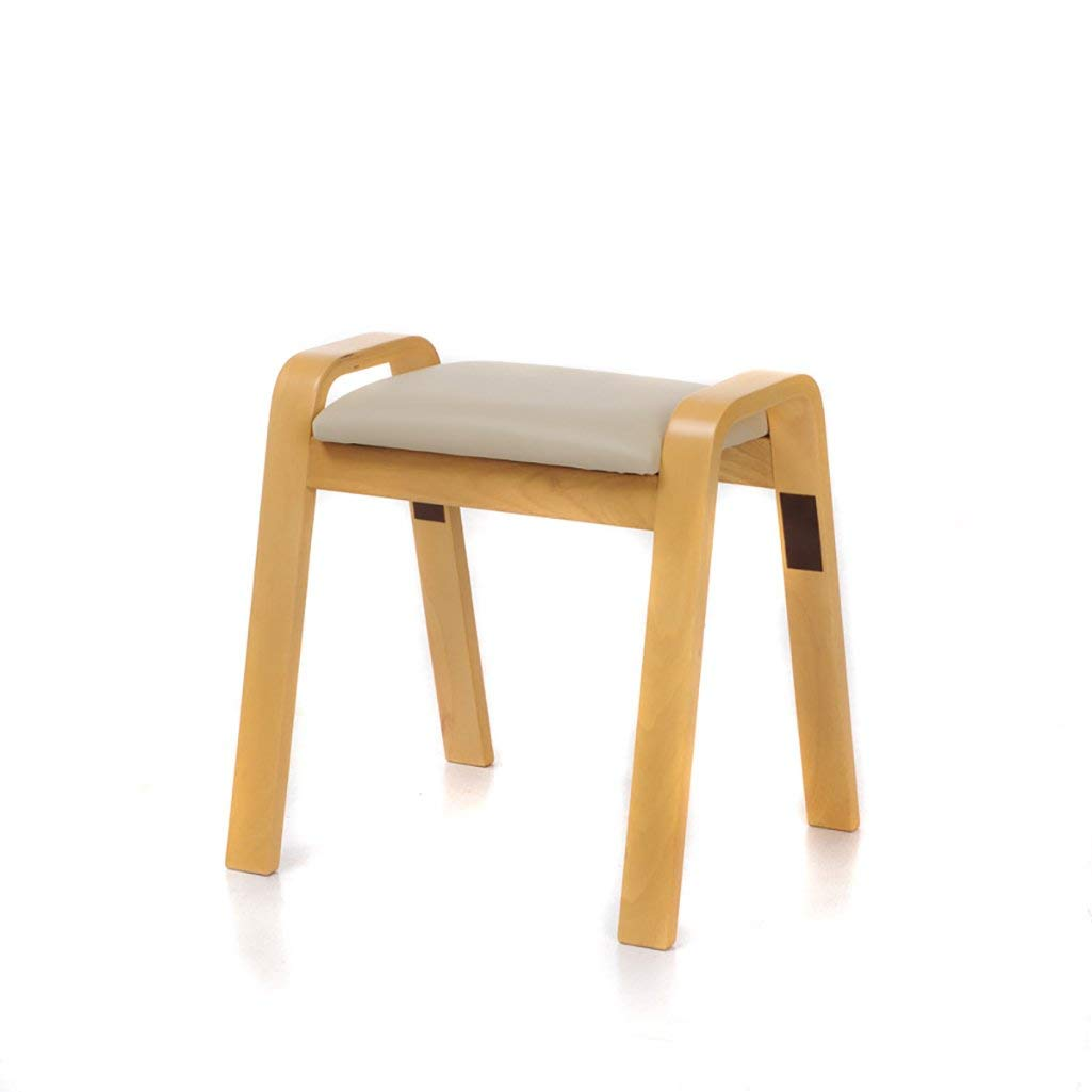 LQQGXL European chair Stool wooden curved wooden stool creative simple stool home solid wood stool sofa stool (Color : A)