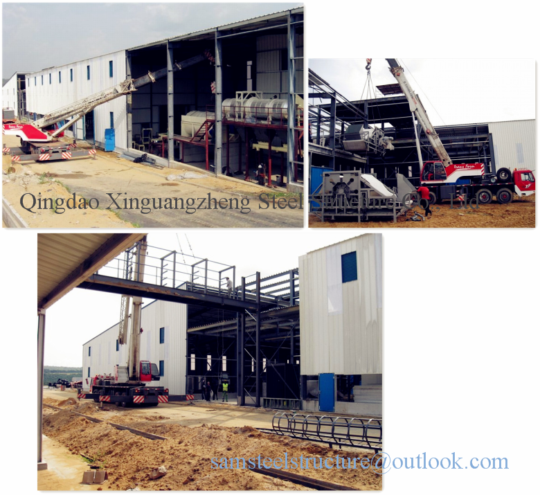 Multi-layer easy erect steel structure warehouse