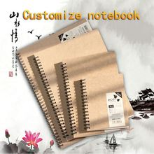 Office suppliers designed custom spiral leather notebook 2012