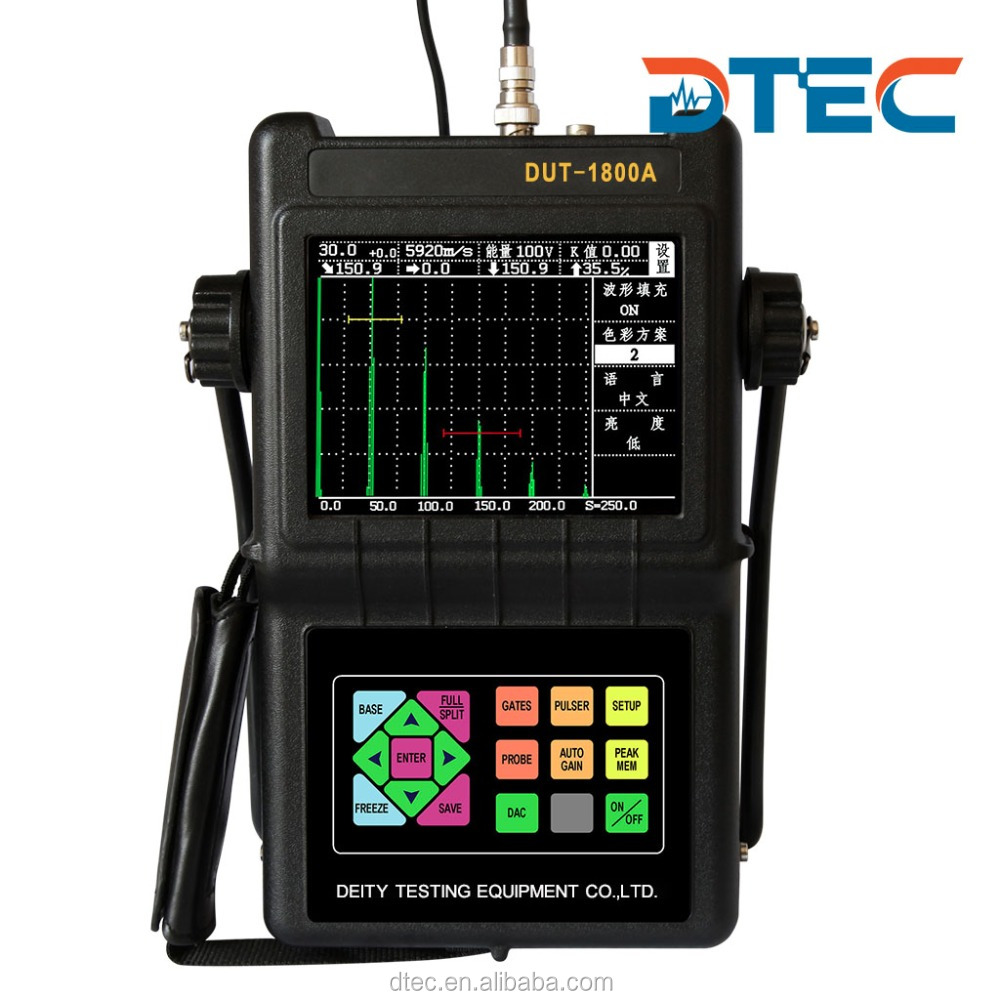 DTEC DUT-1800A Portable Digital Ultrasonic Flaw Detector NDT Testing, Ultrasound,Weld inspection, Perfect DAC and AVG Curve.