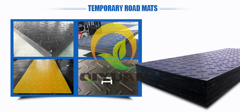Textured HDPE plastic ground mat Turf protection mat