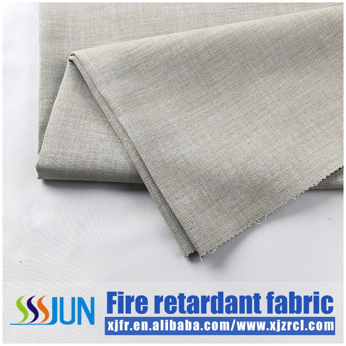 M1 Popular flame retardant fabric for blackout window curtain blinds fire retardant