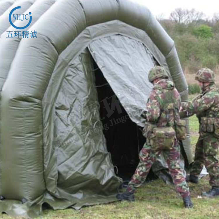 Military grade outdoor inflatable tent for emergency event