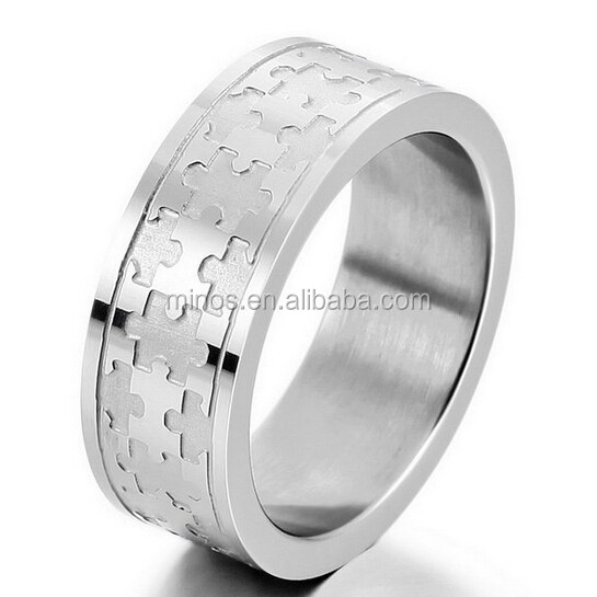jigsaw puzzle ringmens stainless steel ring band silver jigsaw puzzle charm elegant buy jigsaw puzzle ring4 band puzzle ringgay puzzle rings product - Puzzle Wedding Rings