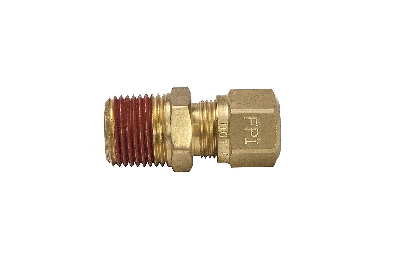 Parker Hannifin VS68NTA-4-4 Brass Air Brake-NTA Male Connector Fitting 1//4 Compression Tube x 1//4 Male Thread