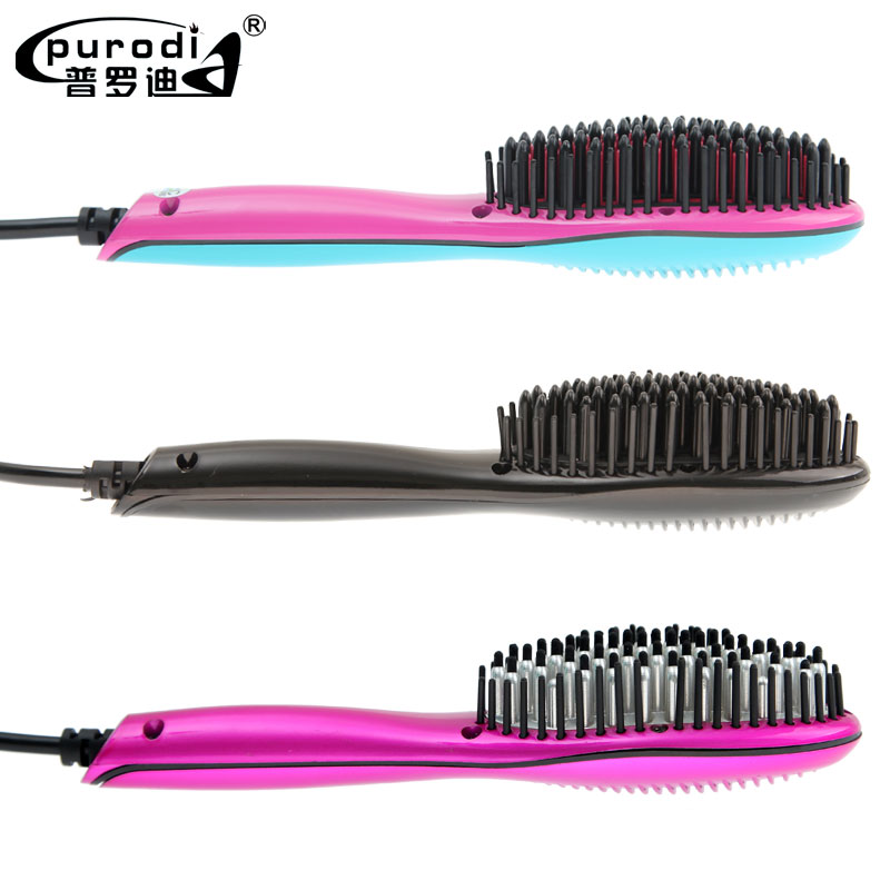 2018 new mini ionic electric fast ceramic hair straightener straightening brush for travel