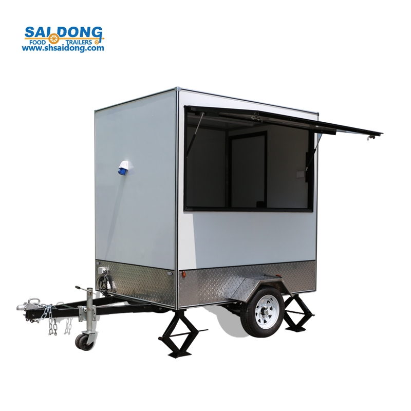 best promotion food multi-functio snack bar cart set mobile / pizza trailer truck food/ sale food kiosk mobile street sale