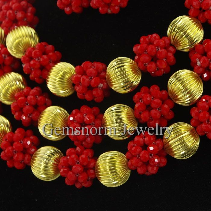 Wholesale 2016 new products fashion african beaded jewelry nigerian wedding jewelry finding beads for women bridal jewellery