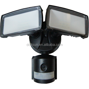 Outdoor motion light sensor led security light with camera