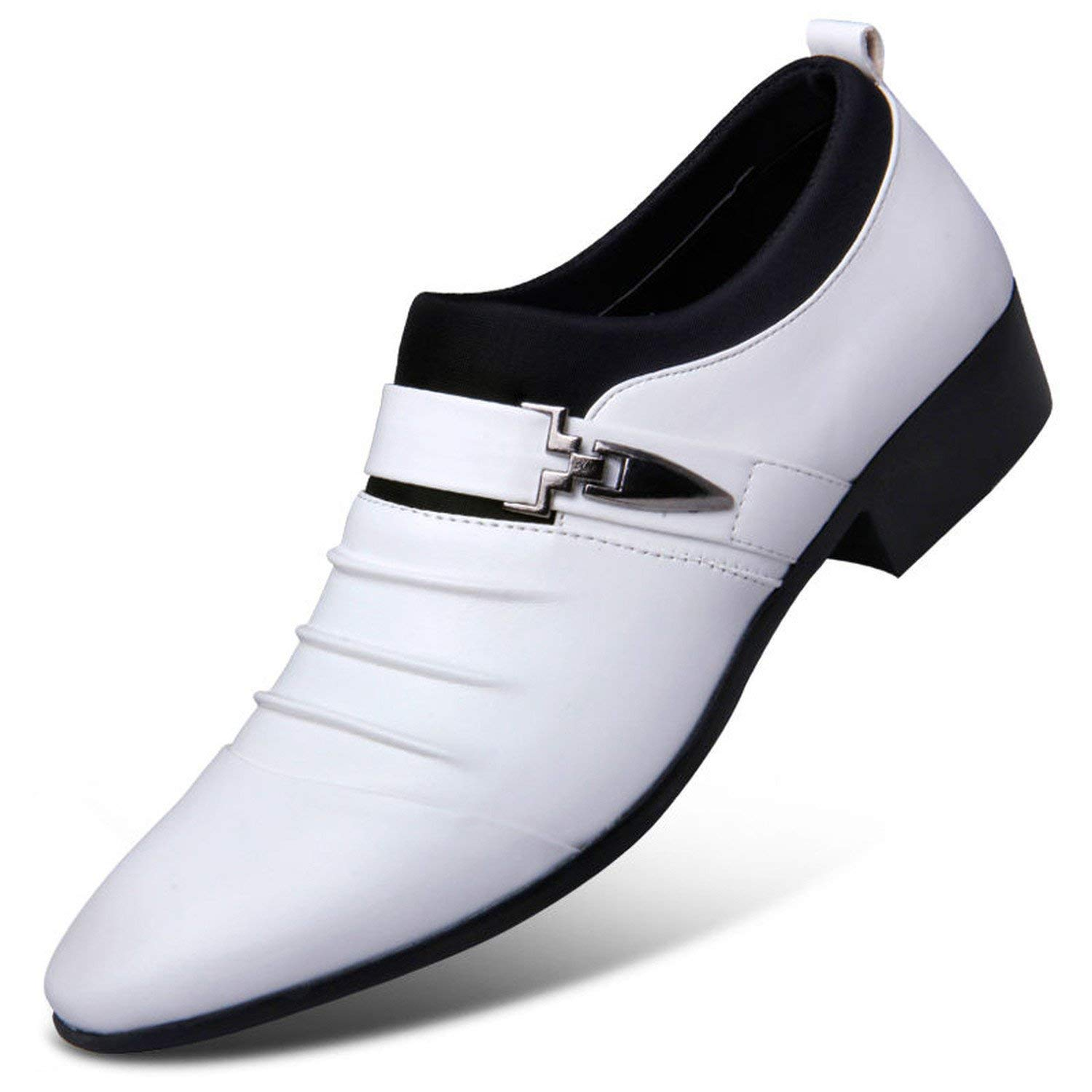 mens white formal shoes