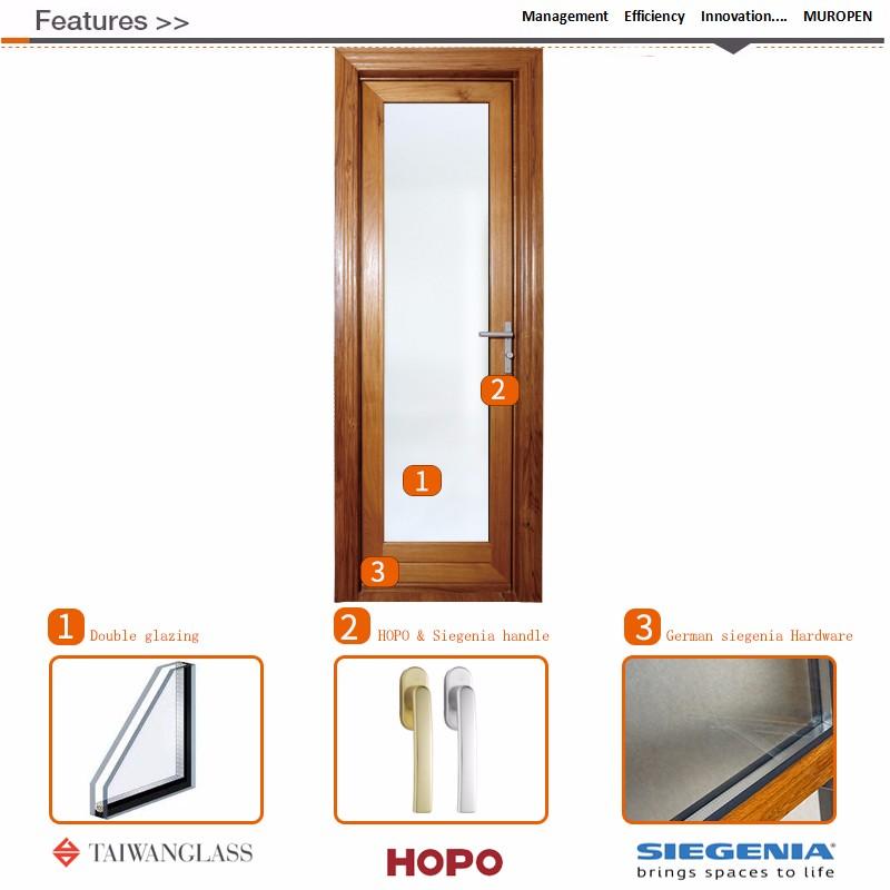 24 X 80 Waterproof Exterior Door Unfinished Wood Small Exterior ...