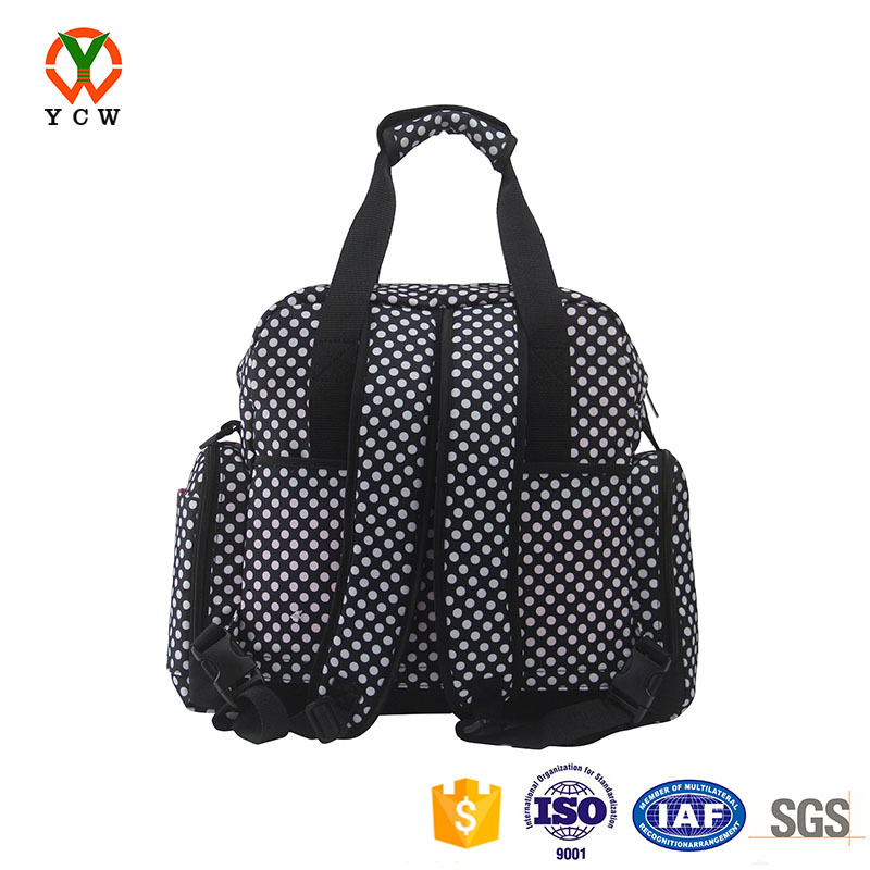 Luxury women style diaper bags shoulder mummy baby bag