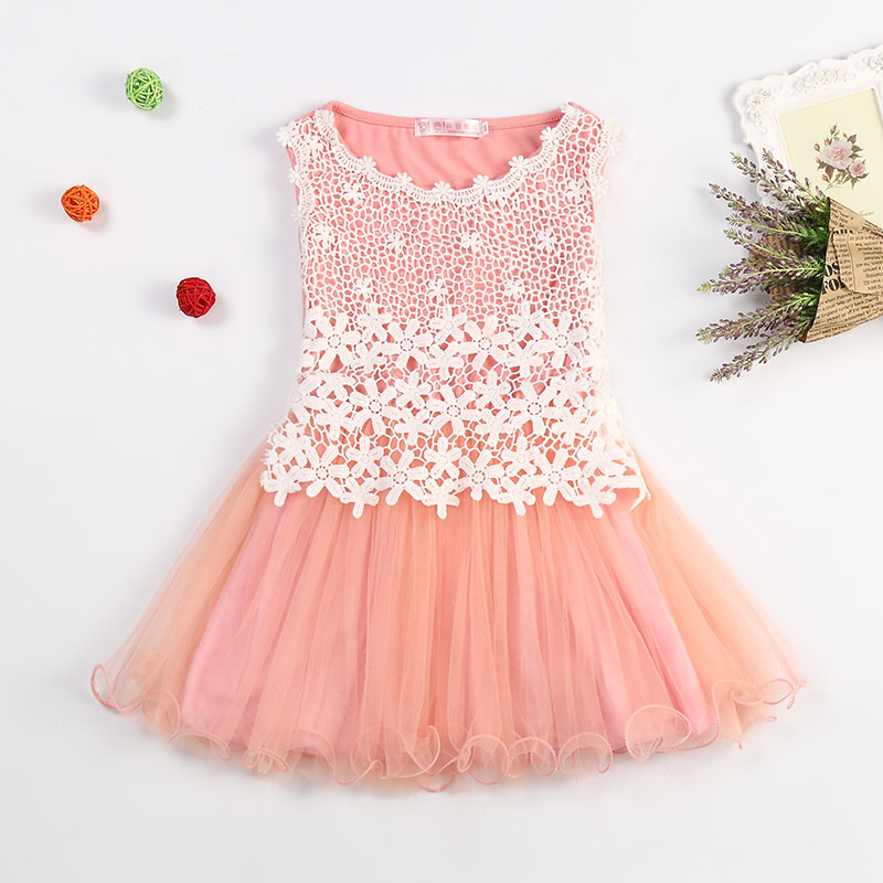 e6358807d Lace Flowers Girls Dresses High Quality Child s Wear Toddler TuTu Girl  Clothing Hollow Mesh Princess Kids Dres