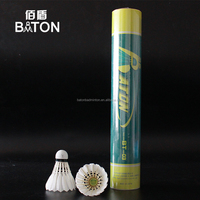 12PCS Cheap Goose Feather shuttlecock badminton for walmart and clubs