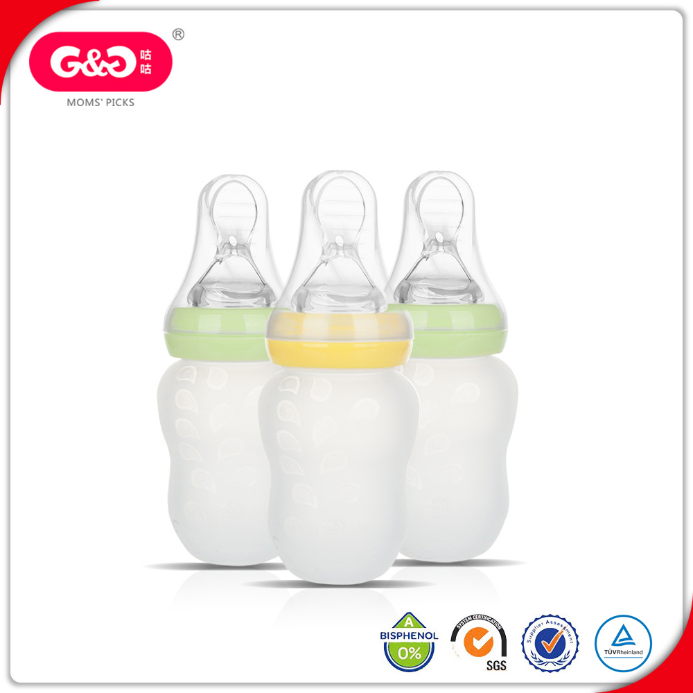 China Products Silicone Baby Feeder Bottle